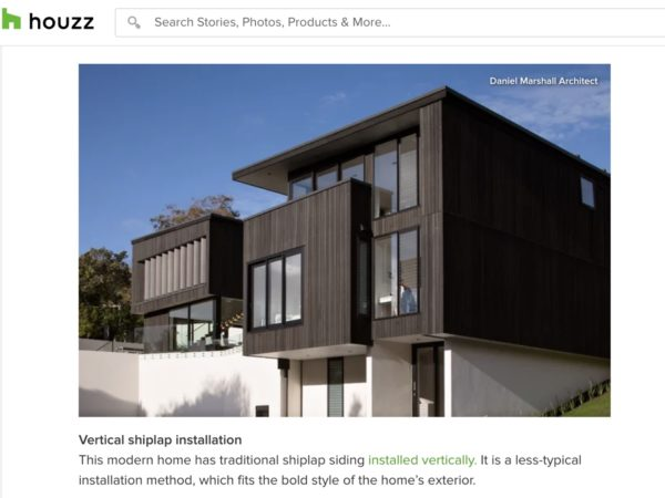 DMA - Featured On Houzz Everything You Need to Know About Shiplap Panelling / Daniel Marshall Architects