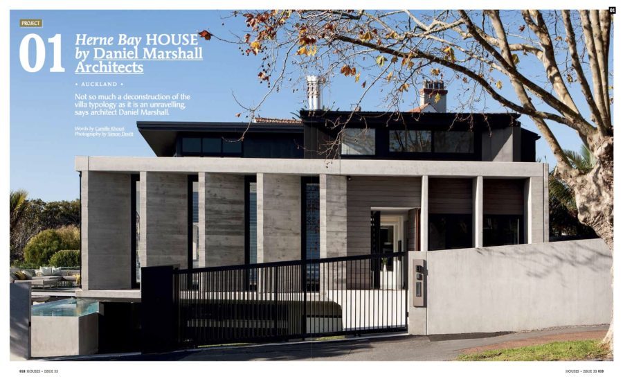 Unravelling of the Villa Typology – HBR Published in Houses / Daniel Marshall Architects